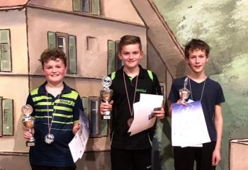 Sieger U15 Einzel